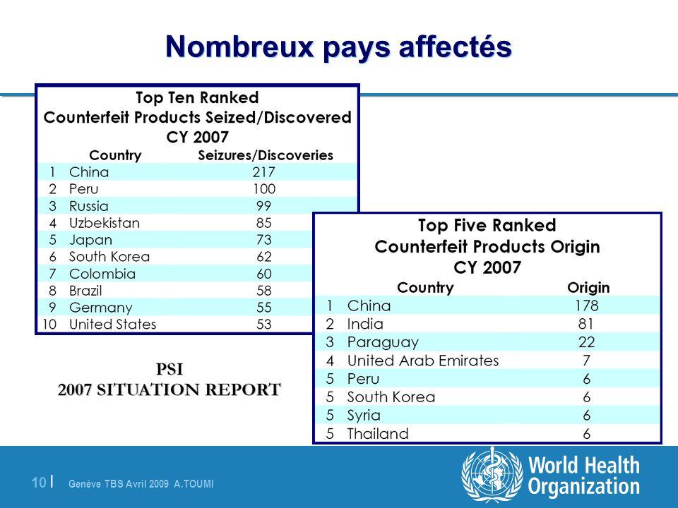 Genève TBS Avril 2009 A.TOUMI 10 | Nombreux pays affectés (PSI, 2007)