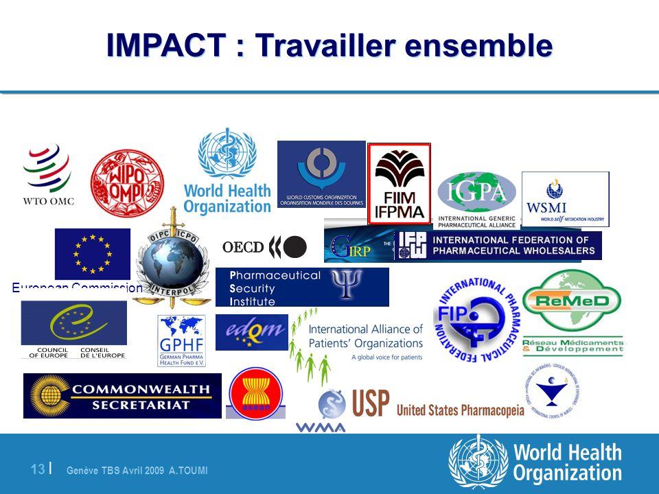 Genève TBS Avril 2009 A.TOUMI 13 | IMPACT : Travailler ensemble European Commission