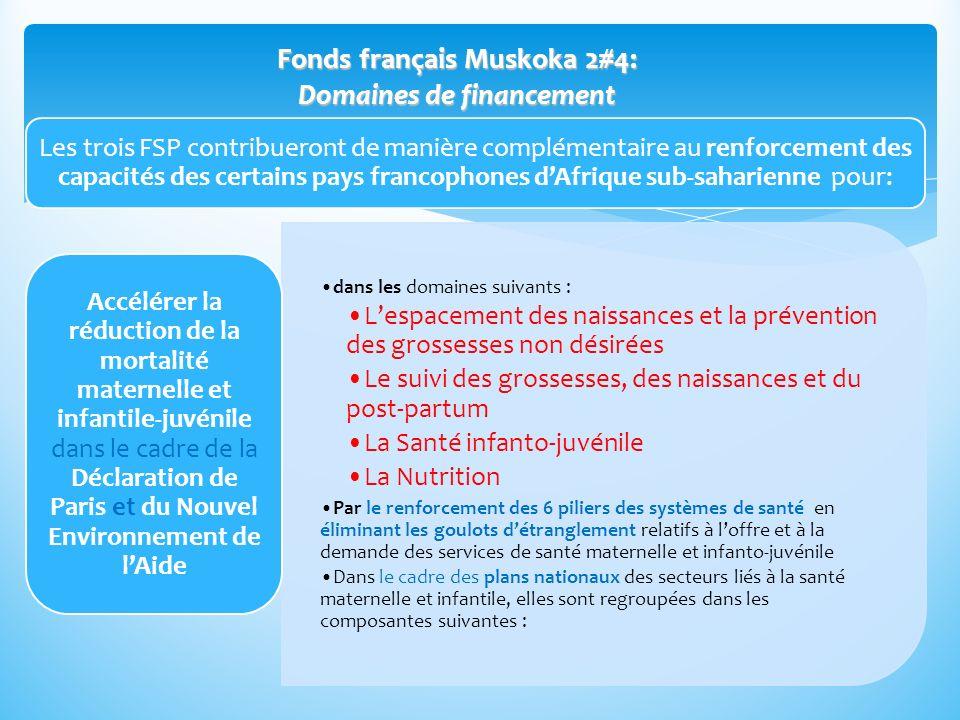 Les trois FSP contribueront de manière complémentaire au renforcement des capacités des certains pays francophones dAfrique sub-saharienne pour: dans