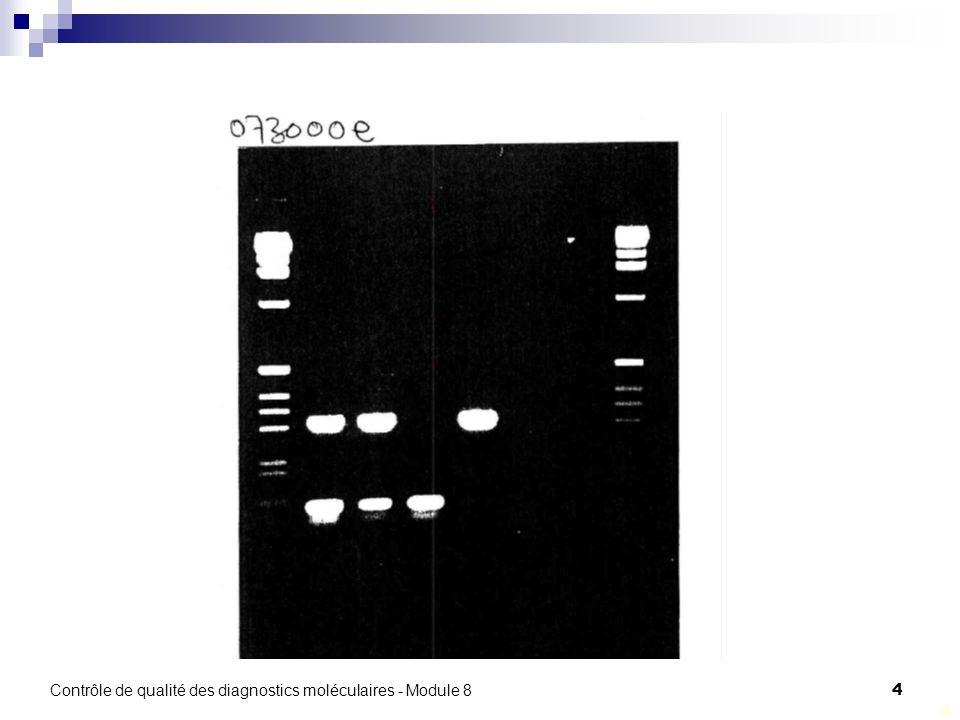 Contrôle de qualité des diagnostics moléculaires - Module 8 4 4
