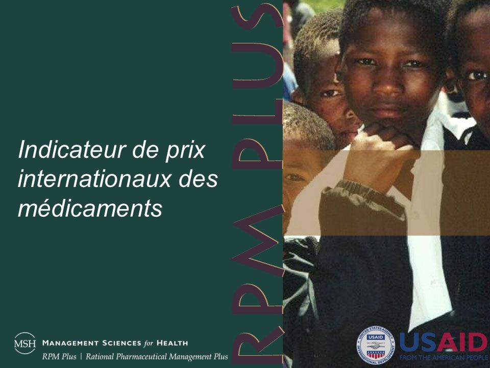 Indicateur de prix internationaux des médicaments