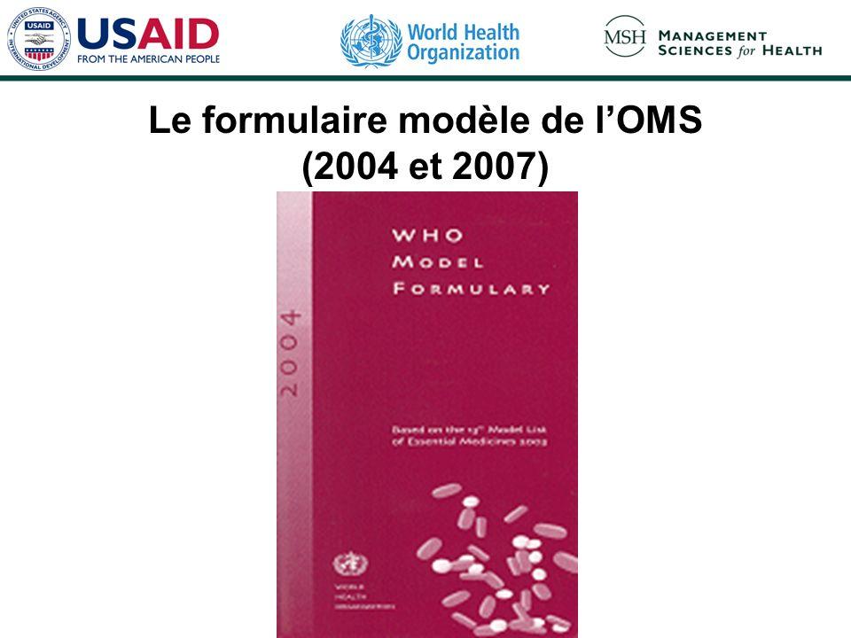 Le formulaire modèle de lOMS (2004 et 2007)