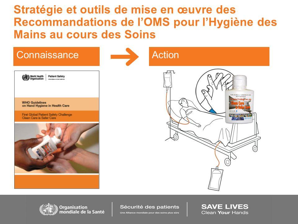 Stratégie et outils de mise en œuvre des Recommandations de lOMS pour lHygiène des Mains au cours des Soins ConnaissanceAction