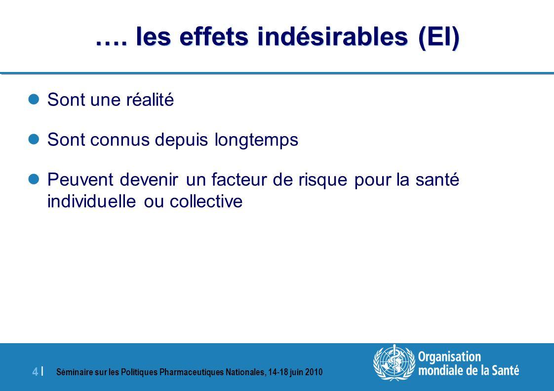 Séminaire sur les Politiques Pharmaceutiques Nationales, 14-18 juin 2010 4 |4 | ….