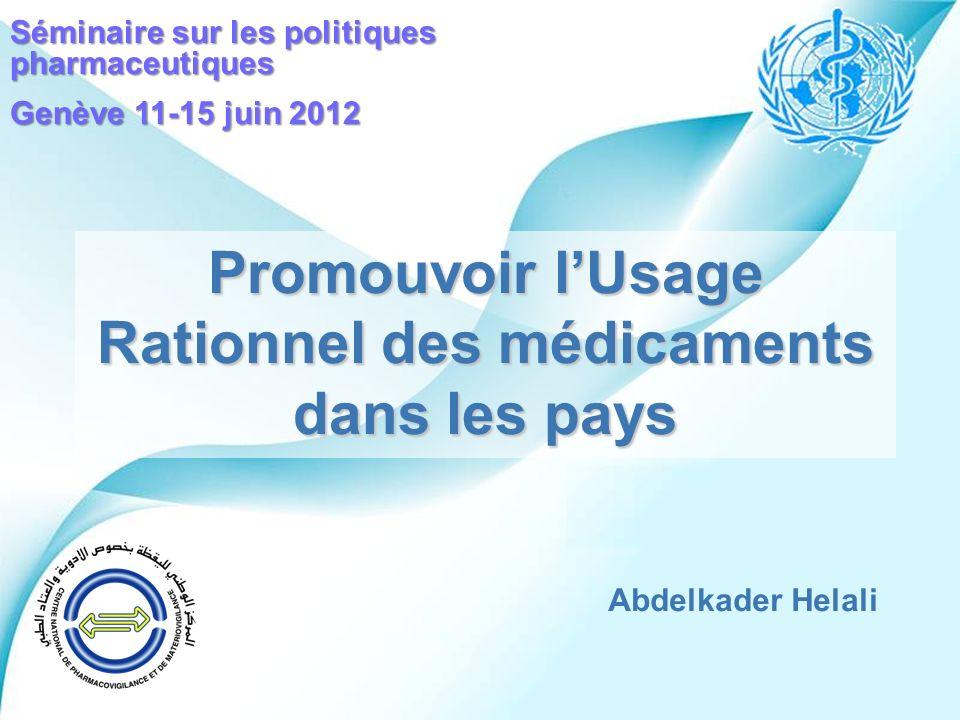 Powerpoint Templates Page 1 Powerpoint Templates Promouvoir lUsage Rationnel des médicaments dans les pays Abdelkader Helali Séminaire sur les politiq