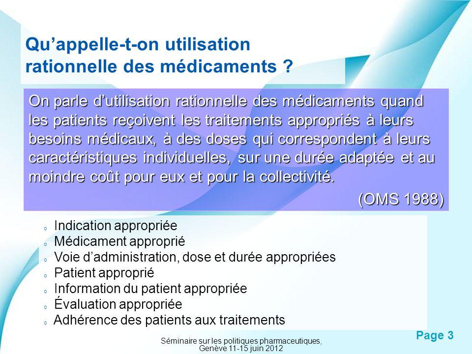 Powerpoint Templates Page 3 Quappelle-t-on utilisation rationnelle des médicaments ? On parle dutilisation rationnelle des médicaments quand les patie