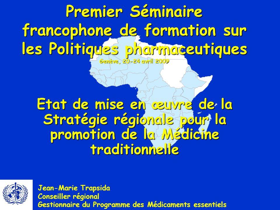 22 OMS, Bureau régional de lAfrique, Division de Développement des Systèmes et Services de Santé LE LOGO DE LA MEDECINE TRADITIONNELLE AFRICAINE