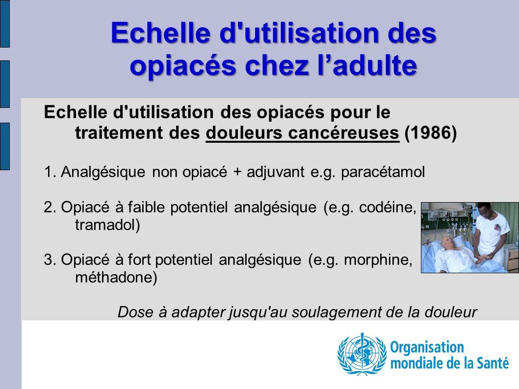 Echelle d utilisation des opiacés pour le traitement des douleurs cancéreuses (1986) 1.
