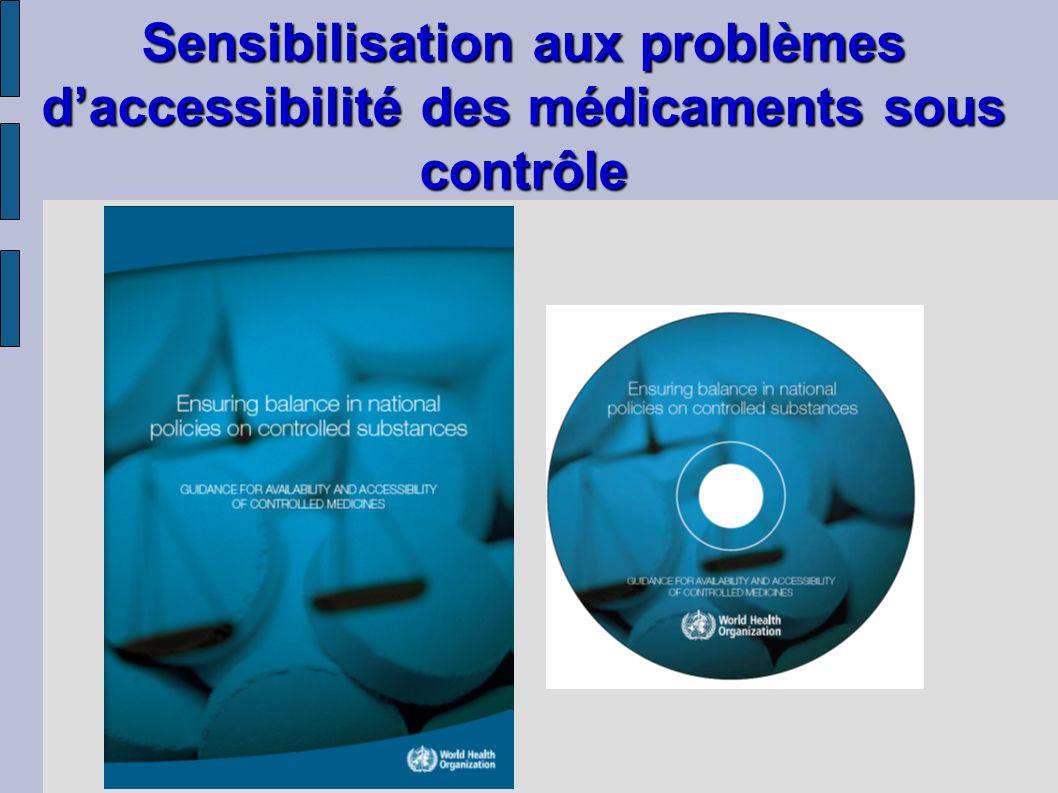 Sensibilisation aux problèmes daccessibilité des médicaments sous contrôle