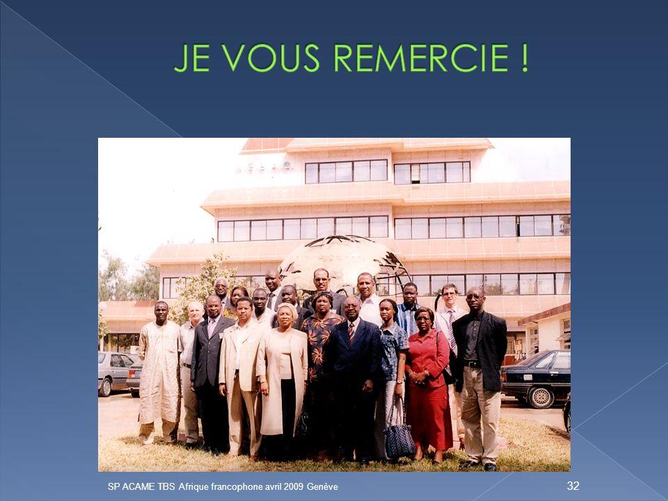 SP ACAME TBS Afrique francophone avril 2009 Genève 32