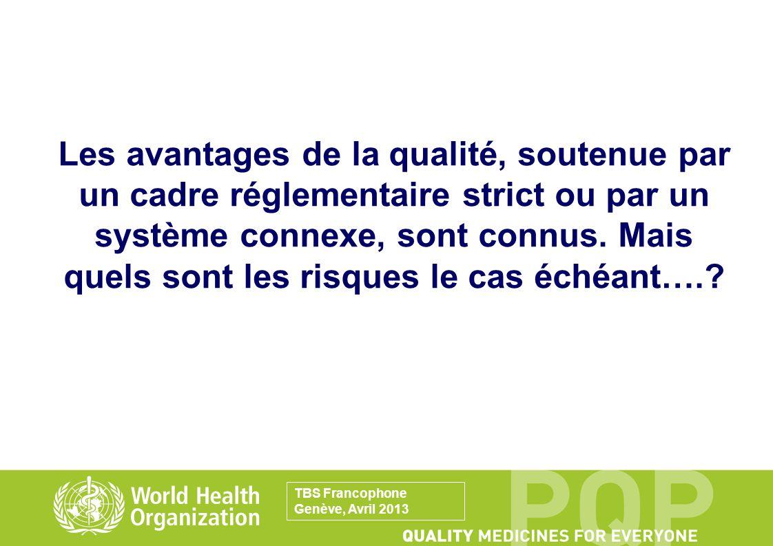 Les avantages de la qualité, soutenue par un cadre réglementaire strict ou par un système connexe, sont connus. Mais quels sont les risques le cas éch