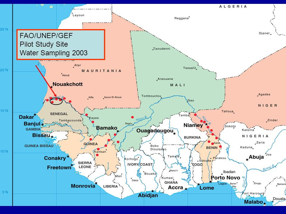 FAO/UNEP/GEF Pilot Study Site Water Sampling 2003