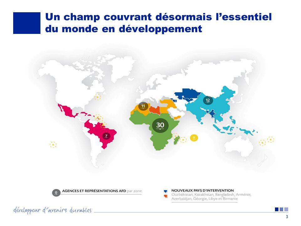 4 Une stratégie fondée sur des partenariats géographiques différenciés Afrique subsaharienne (au moins 60% de leffort budgétaire) Agriculture et agro-industries Infrastructures (énergie et transport) Concentration des subventions sur les secteurs de léducation et de la santé Méditerranée (20% de leffort budgétaire) Formation professionnelle et emploi Réduction des inégalités sociales et territoriales Amélioration de la qualité de vie Pays émergents (un maximum de 10% de leffort budgétaire) Asie : climat Amérique Latine : croissance verte et solidaire Outre-mer : accompagner la croissance endogène Plan habitat Soutien au secteur privé Soutien aux collectivités locales Coopération sous-régionale