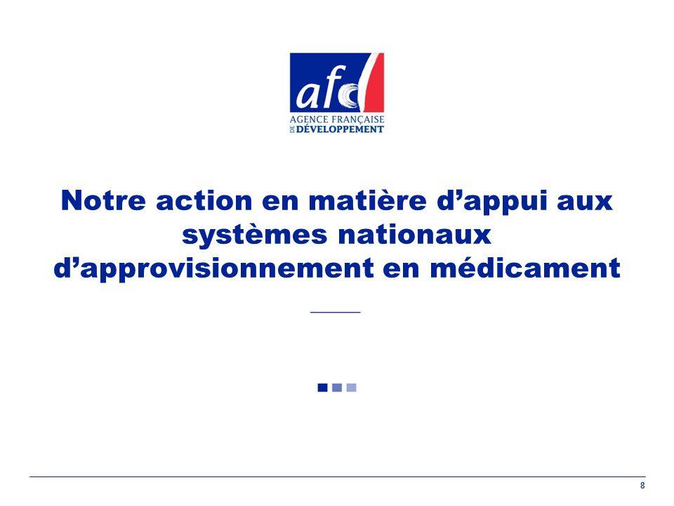8 Notre action en matière dappui aux systèmes nationaux dapprovisionnement en médicament
