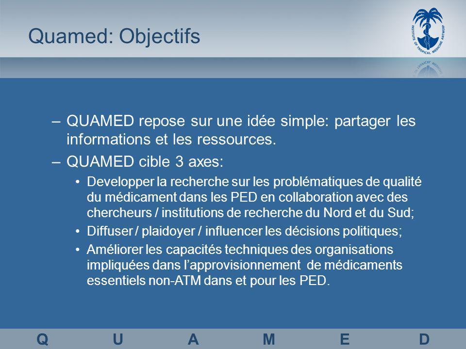 Quamed: Objectifs –QUAMED repose sur une idée simple: partager les informations et les ressources.