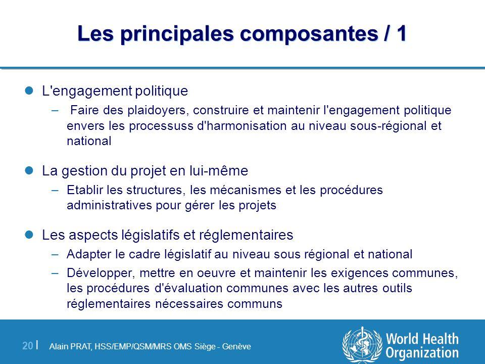 Alain PRAT, HSS/EMP/QSM/MRS OMS Siège - Genève 20 | Les principales composantes / 1 L'engagement politique – Faire des plaidoyers, construire et maint