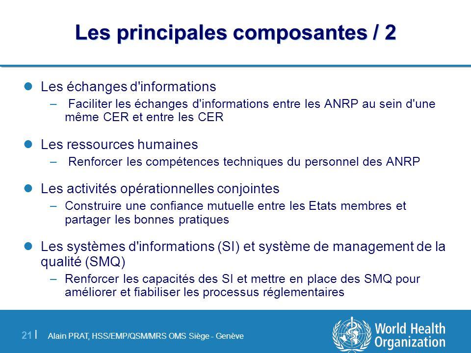 Alain PRAT, HSS/EMP/QSM/MRS OMS Siège - Genève 21 | Les principales composantes / 2 Les échanges d'informations – Faciliter les échanges d'information