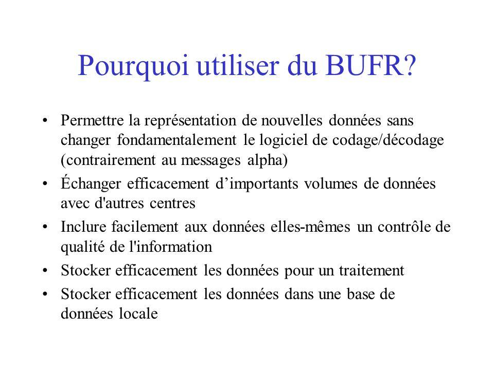 Pourquoi utiliser du BUFR.