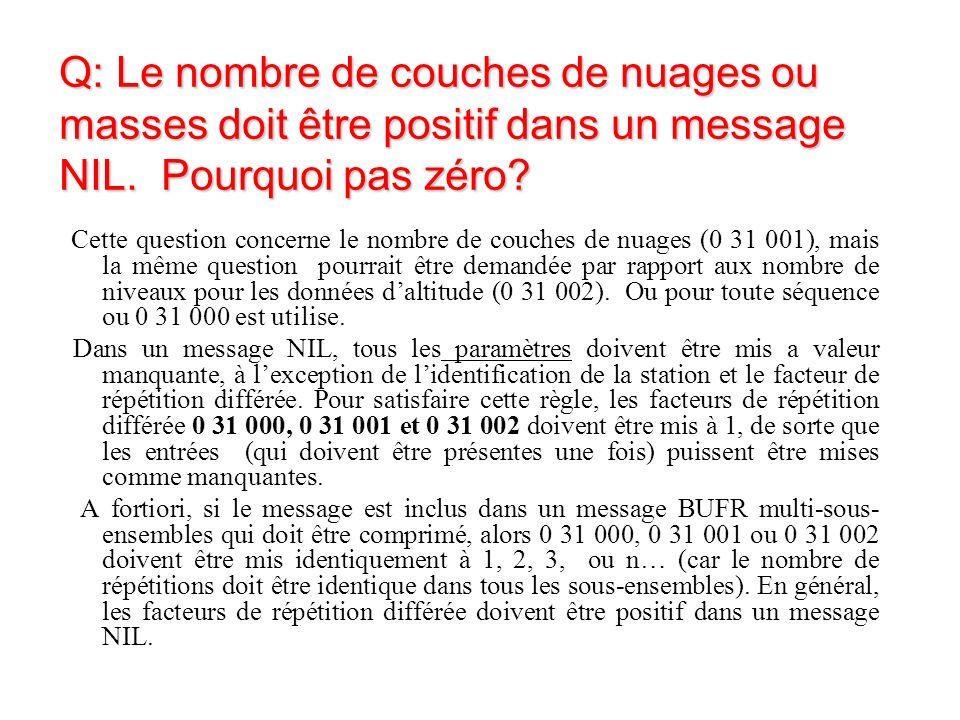Q: Le nombre de couches de nuages ou masses doit être positif dans un message NIL.