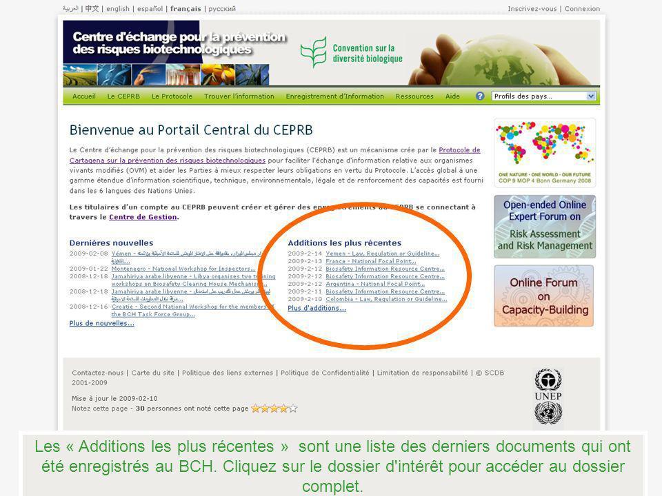 Fin du tutoriel sur les pages de texte du BCH Centre déchange pour la prévention des risques biotechnologiques
