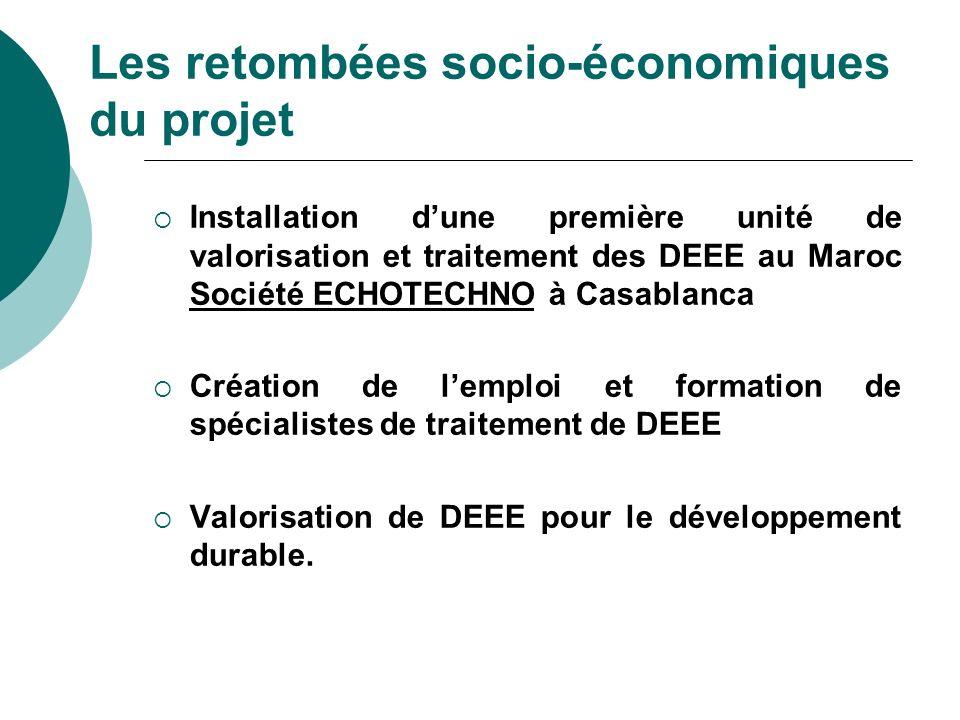 Installation dune première unité de valorisation et traitement des DEEE au Maroc Société ECHOTECHNO à Casablanca Création de lemploi et formation de s