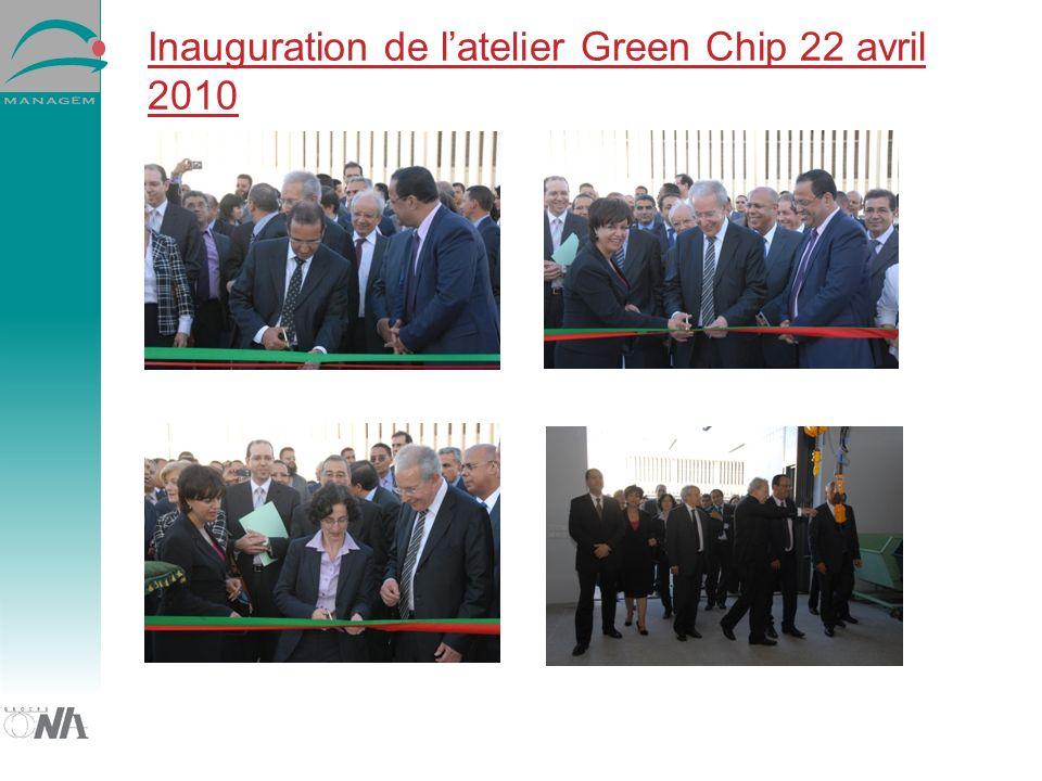 Inauguration de latelier Green Chip 22 avril 2010