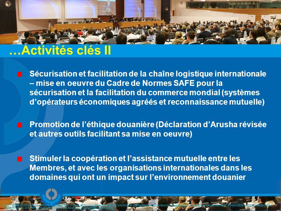 Sécurisation et facilitation de la chaîne logistique internationale – mise en oeuvre du Cadre de Normes SAFE pour la sécurisation et la facilitation d