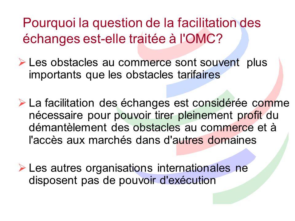 Groupes de coalition dans les négociations de lOMC Groupe africain Groupe ACP Groupe des PMA Groupe restreint Groupe Colorado Tous sujets Facilitation