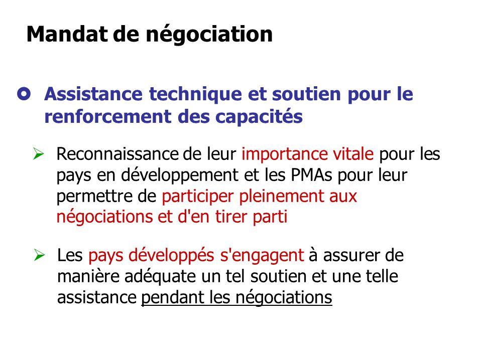 Identification des besoins et priorités en matière de facilitation des échanges Travaux dans des domaines présentant un intérêt particulier pour les p