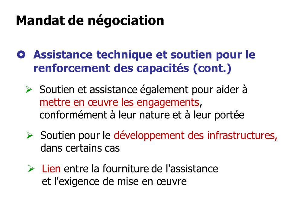 Reconnaissance de leur importance vitale pour les pays en développement et les PMAs pour leur permettre de participer pleinement aux négociations et d