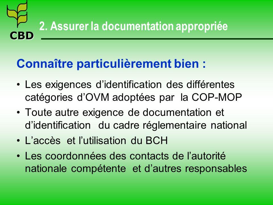 CBD 3.Inspecter les importations d OVM 3.