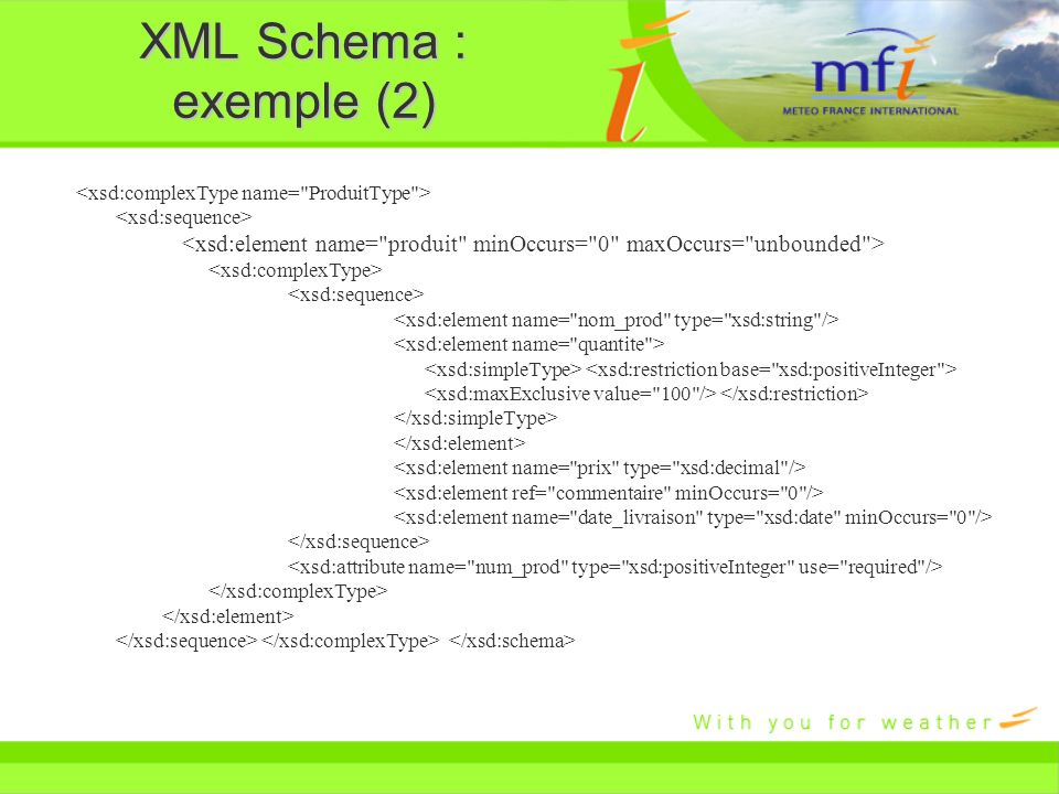 XML Schema : exemple (2)