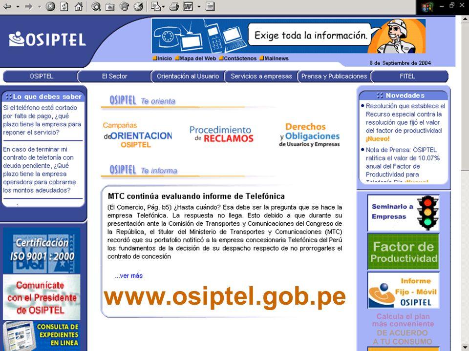 29 www.osiptel.gob.pe