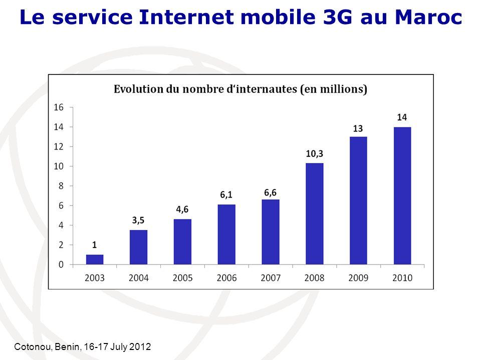 Cotonou, Benin, 16-17 July 2012 QoS de lInternet mobile 3G Plate-forme serveurs de mesures : Mesurer les performances dun réseau Internet mobile 3G, cest mesurer la QoS dune connexion à travers ce réseau entre un terminal et un serveur de données.