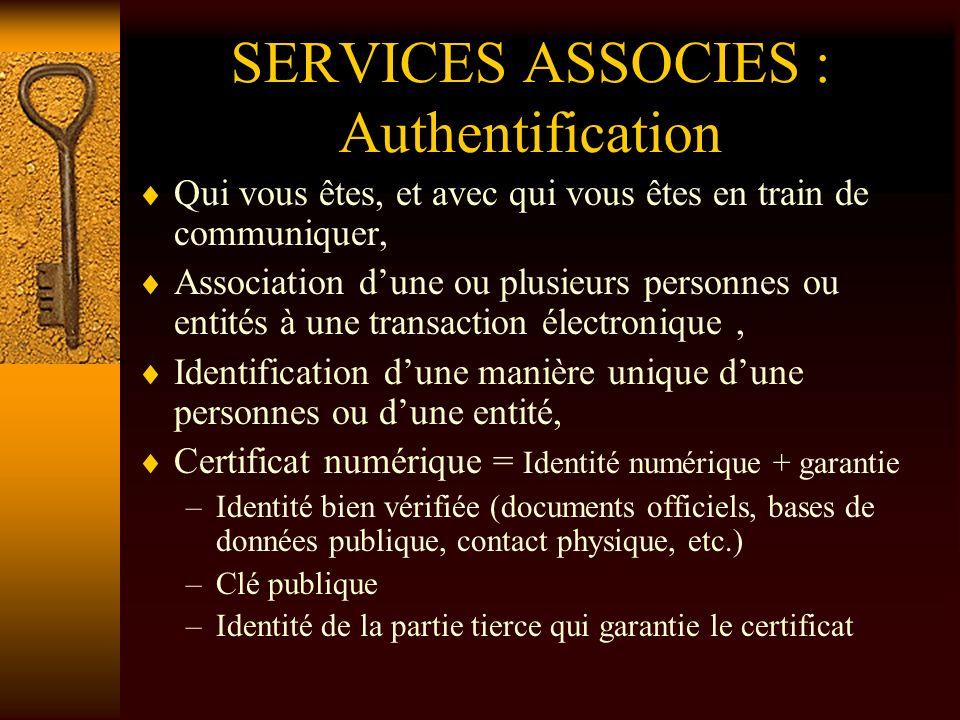 SERVICES ASSOCIES : Signature Numérique 1.