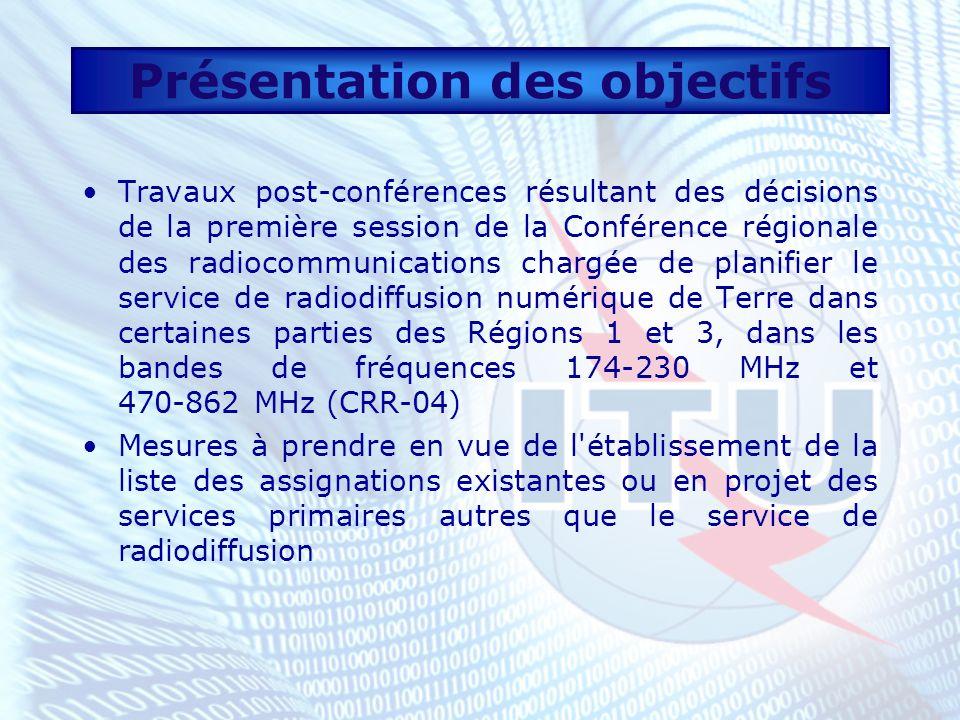 Décisions de la CRR-04 Résultats Résolutions adoptées par la CRR-04 qui peuvent aider les Etats Membres à se préparer en vue de la seconde session de la CRR Lettre circulaire CR/214 du 25 juin 2004 (http://www.itu.int/dms_pub/itu- r/md/00/cr/cir/R00-CR-CIR-0214!!PDF-F.pdf)