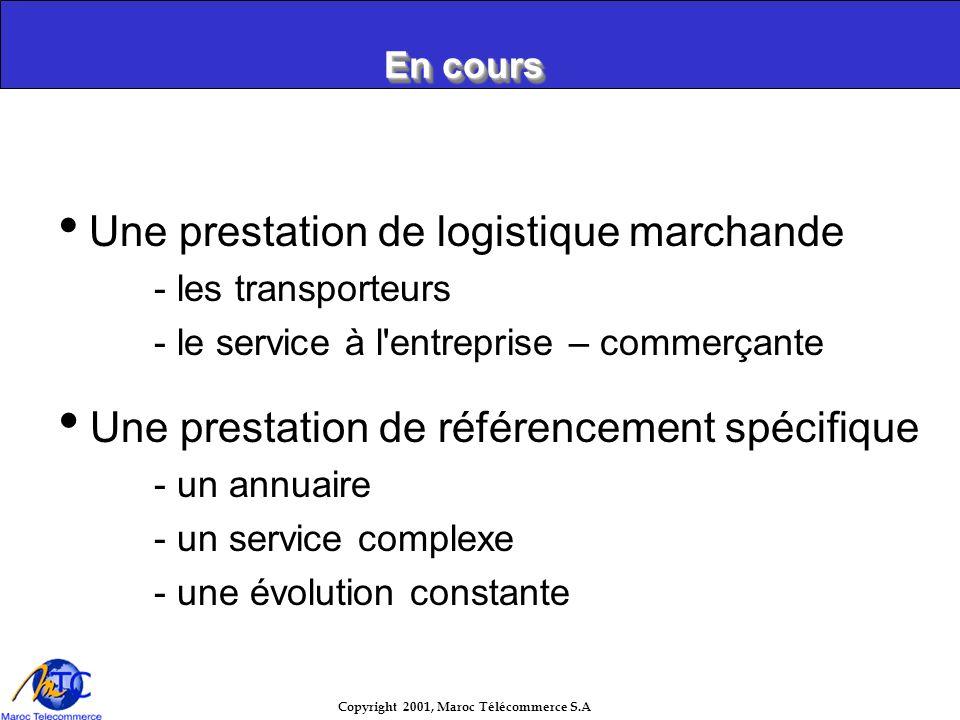 Copyright 2001, Maroc Télécommerce S.A Loffre aux marchands Accès à la banque en ligne Conception et hébergement site marchand Vente de Micro & Connex