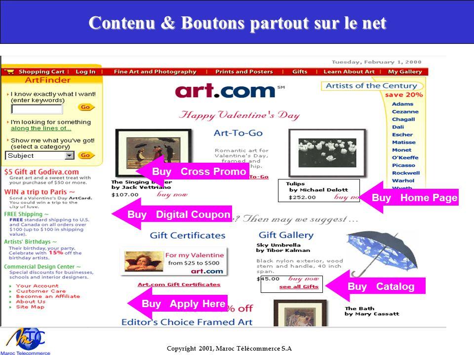 Copyright 2001, Maroc Télécommerce S.A Contenu & Boutons partout sur le net Buy Catalog Buy Home Page Buy Cross Promo Buy Digital Coupon Buy Apply Here
