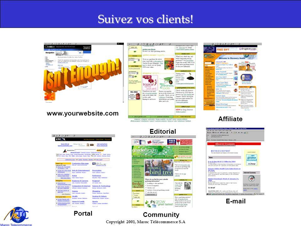Copyright 2001, Maroc Télécommerce S.A Suivez vos clients.