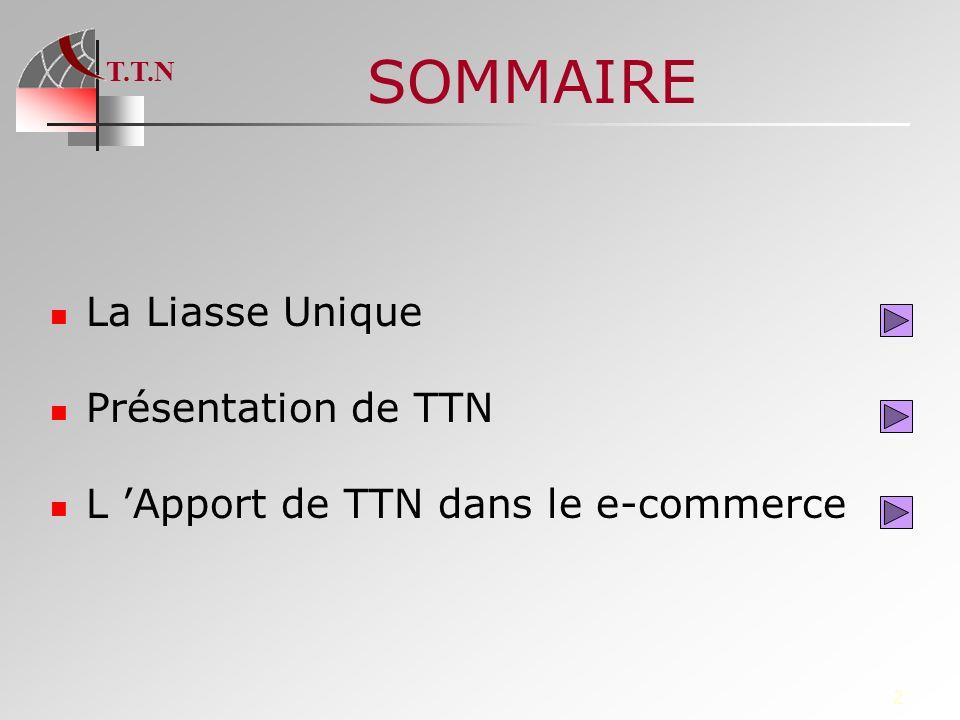 T.T.N 2 SOMMAIRE La Liasse Unique Présentation de TTN L Apport de TTN dans le e-commerce