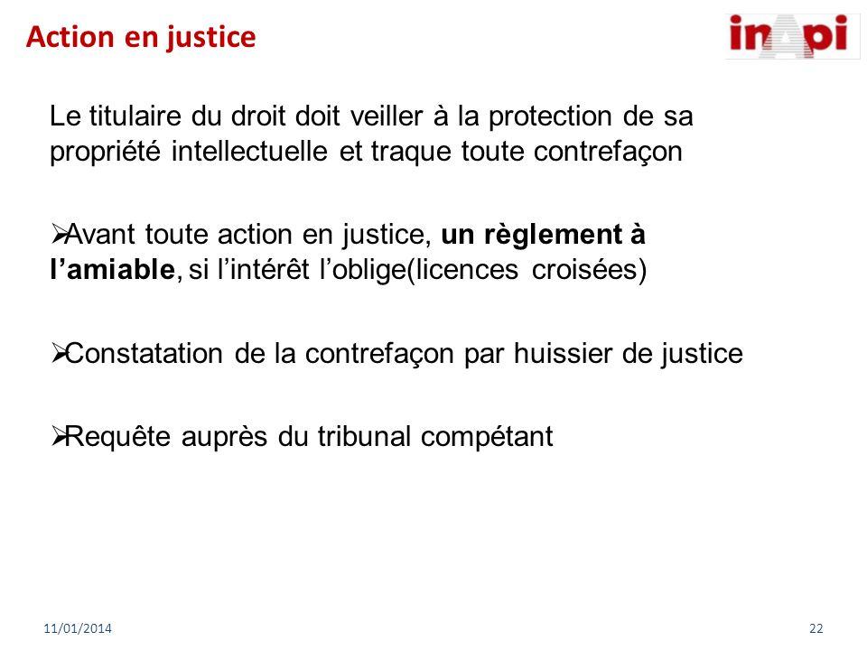 Le titulaire du droit doit veiller à la protection de sa propriété intellectuelle et traque toute contrefaçon Avant toute action en justice, un règlem