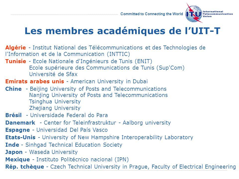 Committed to Connecting the World Cérémonie de bienvenue des membres académiques