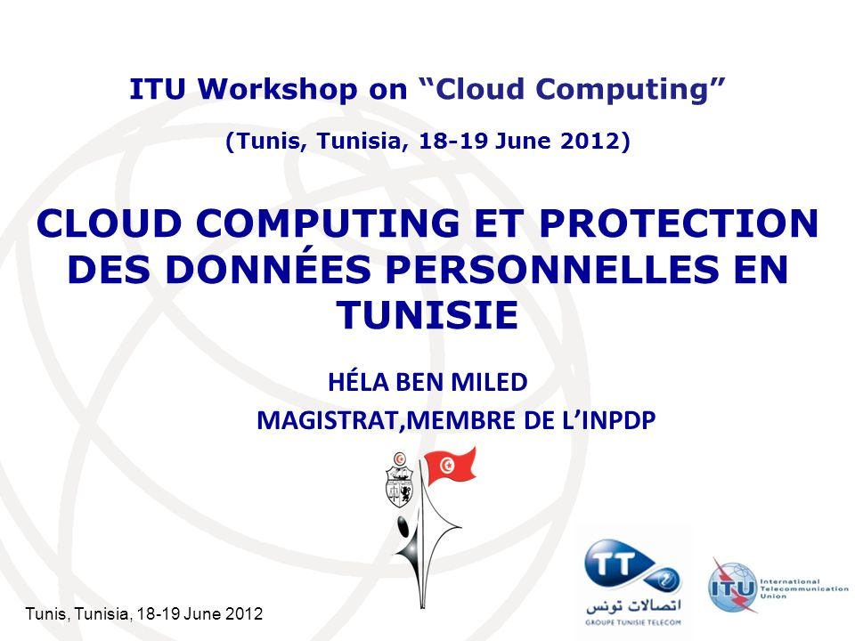 Tunis, Tunisia, 18-19 June 2012 22 Slide title in Verdana 32 Level 1 text to appear in Verdana font, Point size 32 If too much text gets added, the fonts size gets reduced, alerting the author that it is time to continue on an additional slide.