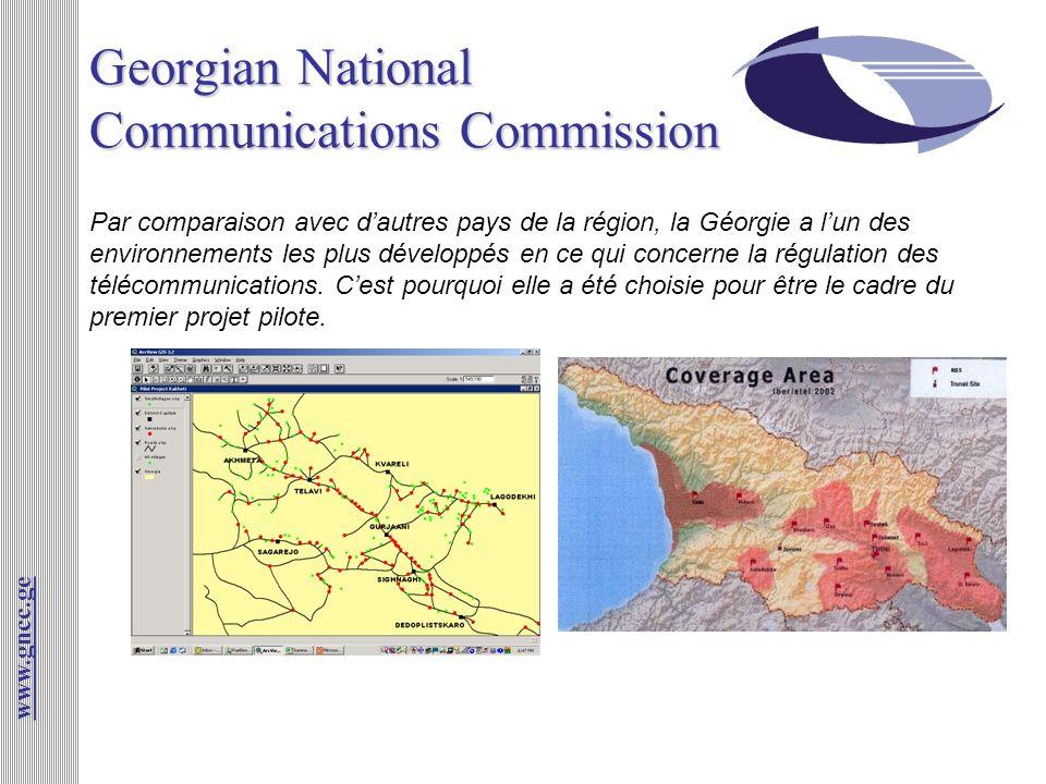 Georgian National Communications Commission www.gncc.ge Par comparaison avec dautres pays de la région, la Géorgie a lun des environnements les plus d