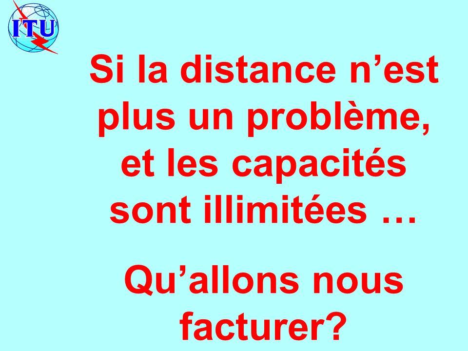 Si la distance nest plus un problème, et les capacités sont illimitées … Quallons nous facturer?