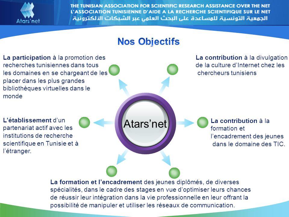 Atarsnet La contribution à la divulgation de la culture dInternet chez les chercheurs tunisiens.