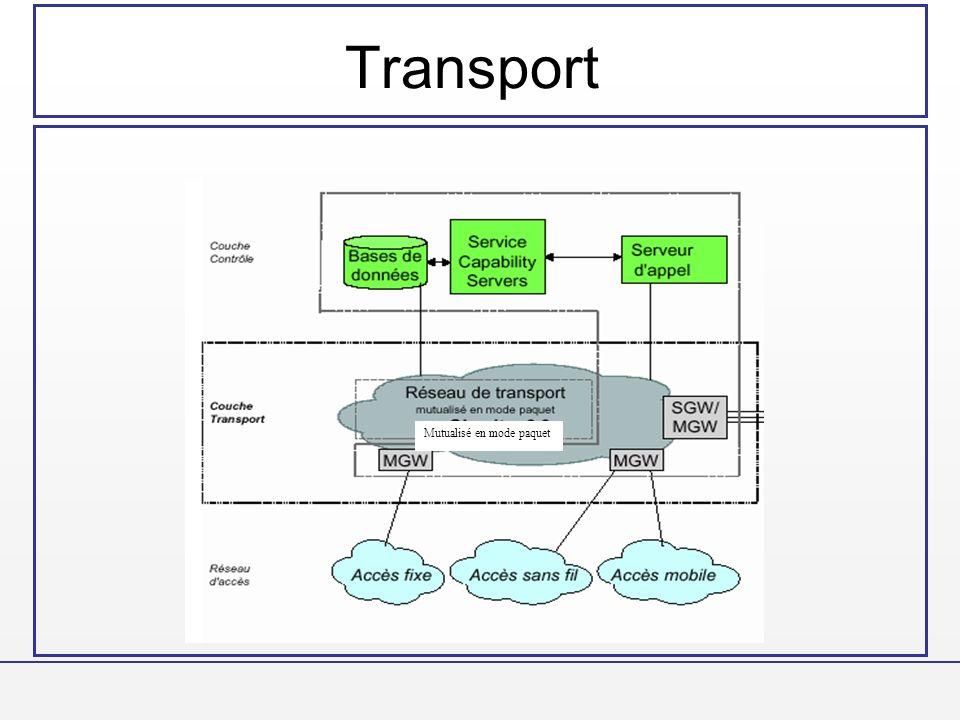 Transport Mutualisé en mode paquet