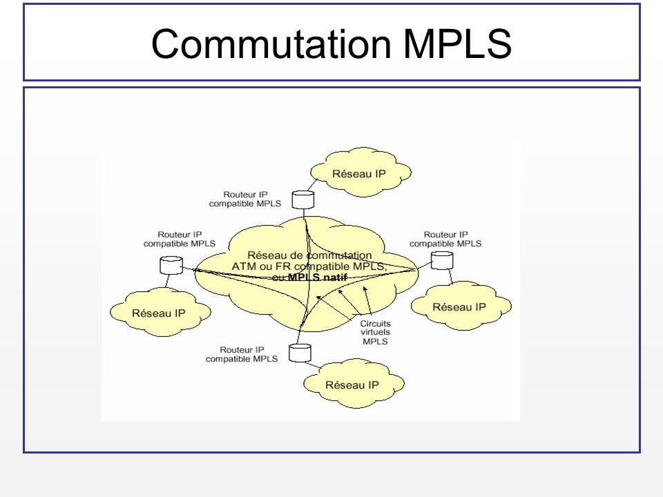Commutation GMPLS La structure en couches dun réseau NGN WAN ou RAN fondé sur une solution GMPLS / WDM (Source : Arcome)