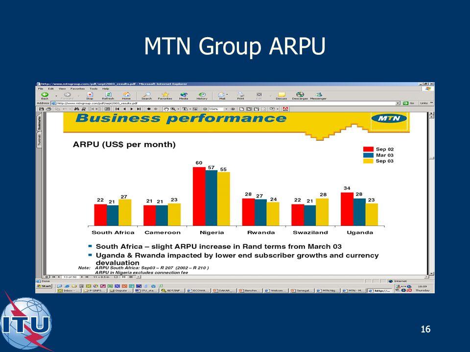 16 MTN Group ARPU