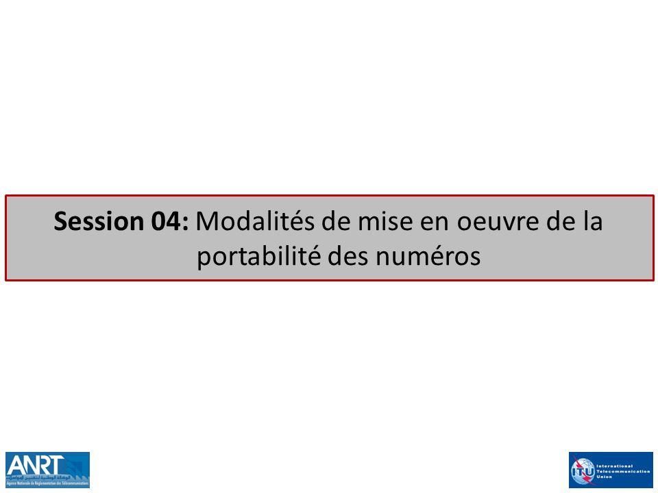 2 Périmètre de la portabilité des numéros Solutions pour limplémentation de la portabilité Problèmes et recommandations Coûts relatifs à limplémentation de la portabilité Plan